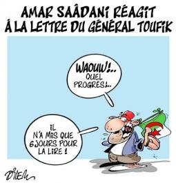 Amar Saadani réagit à la lettre du général Toufik