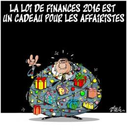 La loi de finances 2016 est un cadeau pour les affairistes