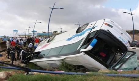 Relizane: sept blessés graves suite au renversement d'un autobus