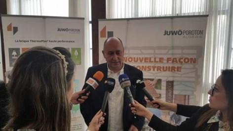 JUWO POROTON Algérie : La nouvelle brique économique à haute performance Iconede l'innovation de la 20ème édition du Salon «BATIMATEC»  (du 23 au 27 avril à la SAFEX d'Alger)