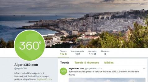 Algerie360.com premier portail d'information de la Twittosphère algérienne en juin 2017