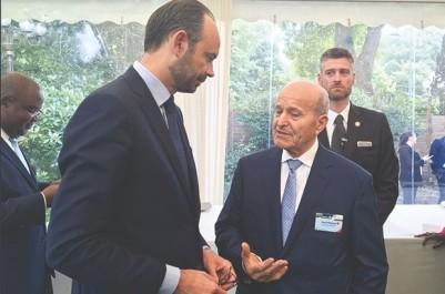 Ils se sont rencontrés hier en marge du Forum Paris Europlace: Issad Rebrab s'entretient avec Edouard Philippe