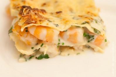 Lasagnes aux crevettes