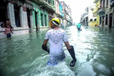 Cuba : Balayée par Irma, La Havane en partie inondée et sans électricité