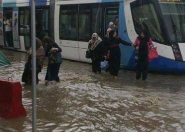 Tramway d'Alger:  Le trafic perturbé pour cause d'inondations