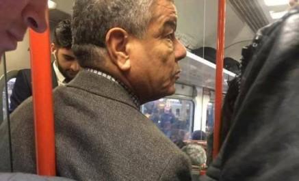 Arrêt sur image- Amar Saâdani dans un métro londonien