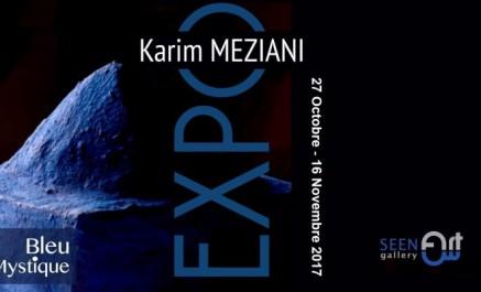 """Inauguration de l'exposition """"Bleu mystique"""" du plasticien Karim Meziani"""
