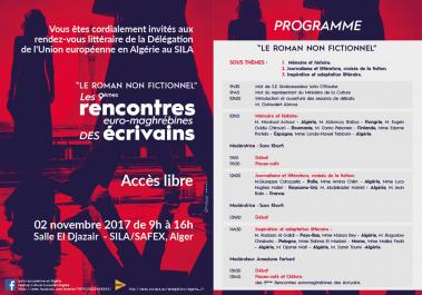 Alger : Rencontres euro-maghrébines des écrivains le 2 novembre