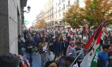 Espagne: des milliers de manifestants à Madrid en faveur d'un référendum d'autodétermination au Sahara occidental