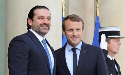 Le premier ministre libanais démissionnaire Saad Hariri reçu par Macron à Elysée