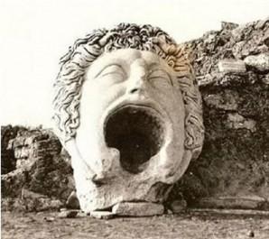 Le masque de gorgone : Il est exposé provisoirement à Alger