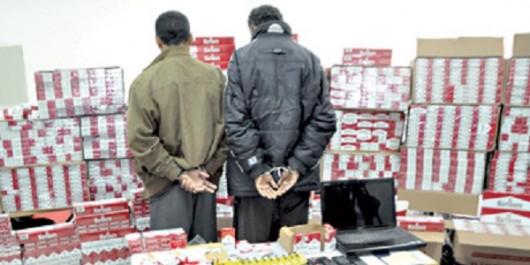 Meskiana (OUM-EL-BOUAGHI) Saisie de plus de 8 000 paquets de cigarettes destinées à la contrebande