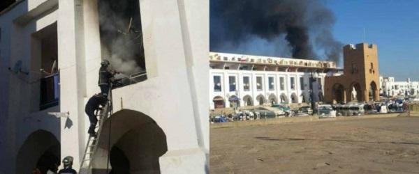 Incendie au niveau du complexe touristique de Sidi Fredj (VIDEO)