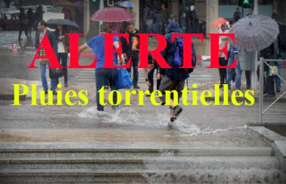 Alerte météo- des pluies torrentielles sur le nord du pays à partir de ce soir