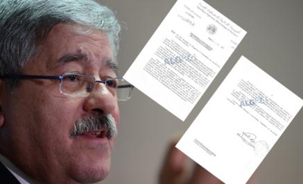 [DOCUMENT] Ouyahia autorise des opérateurs à importer des marchandises soumise à restriction