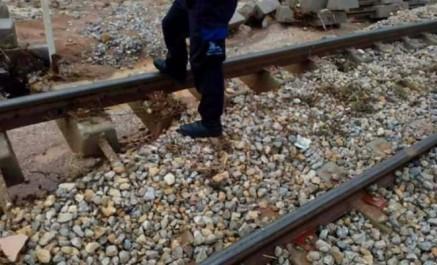 Intempéries: la nouvelle ligne ferroviaire Alger-Zeralda endommagée