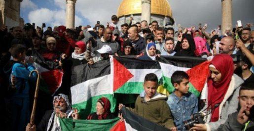 Palestine: des milliers de personnes manifestent pour El-Qods occupée