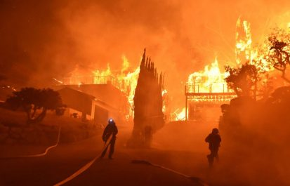L' incendie en Californie menace Santa Barbara
