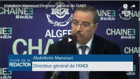 Abdelkrim Mansouri, DG de l'ANDI: des investisseurs de 25 nationalités ont déposé des projets durant les 9 premiers mois de 2017