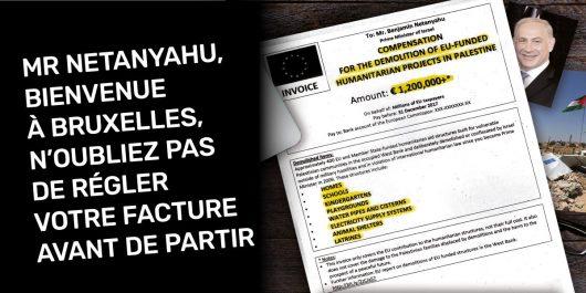 Des eurodéputés présentent « la facture des projets détruits en Palestine» à Netanyahu