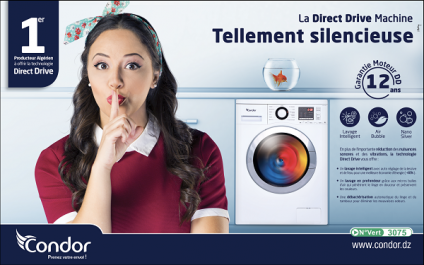 Profitez du « Direct Drive » sur les machines à laver Condor