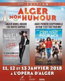 1ère édition du « Alger Mon Humour »,  Nawell MADANI célèbre l'humour sous toutes ses formes à l'opéra d'Alger