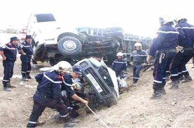 Ghardaïa: Deux morts et trois blessés dans un accident de la route
