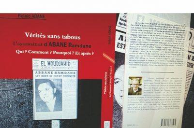 Vente-dédicace du livre sur l'assassinat de Abane Ramdane