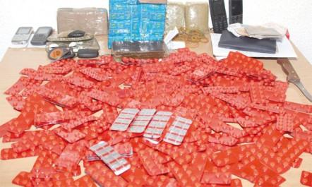 Trafic de psychotropes durant l'année en cours : 897 suspects arrêtés et plus de 500 000 comprimés récupérés par les gendarmes
