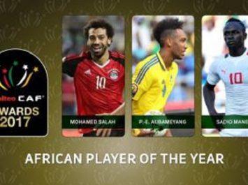 CAF Awards 2017: Mohamed Salah, Aubameyang et Mané finalistes