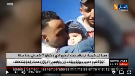 Un Harrag prend le risque d'embarquer son bébé sur un bateau de fortune(vidéo)