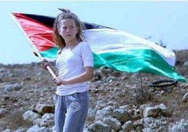 BONNE ANNÉE À L'ENFANT PALESTINIEN DANS LES GEÔLES D'ISRAËL Ahed Tamimi, je raconte ta bravoure
