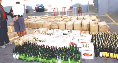 Sig : Saisie de 559 unités de boissons alcoolisées