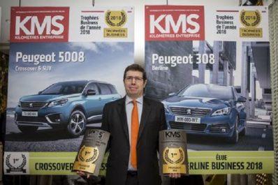Groupe PSA : Peugeot 308 et 5008 élues véhicules business de l'année 2018