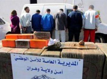 Oran : démantèlement d'un réseau international de trafic de drogue et saisie d'un quintal de kif traité