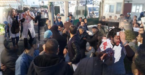 Vidéo- Des médecins résidents blessés dans des affrontements avec la police à Alger