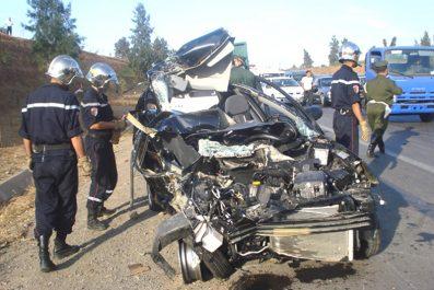 Accidents de la circulation: 43 morts et 1142  blessés en une semaine