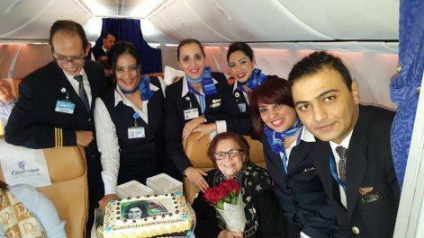 Egypt Air réserve un accueil chaleureux à Djamila Bouhired