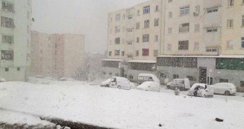 Bloqués par les fortes chutes de neige : Réouverture de plusieurs tronçons routiers à Jijel