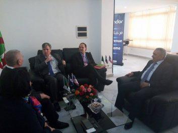 Son excellence l'ambassadeur des Etats Unis en visite de courtoisie à Condor