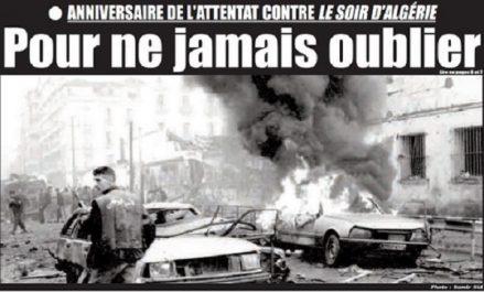 L'attentat avait ciblé le siège du soir d'Algérie en plein Ramadhan