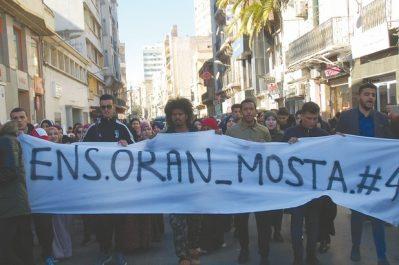 Oran et Constantine : Marches de protestation des étudiants de l'ENS