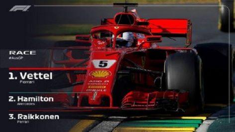 Formule 1 – Grand Prix d'Australie : Sebastian Vettel vainqueur devant Lewis Hamilton