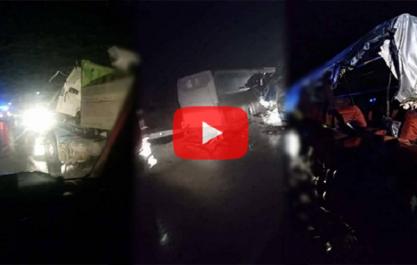 Vidéo- Plusieurs morts et blessés dans la collision d'un bus avec un camion à M'Sila