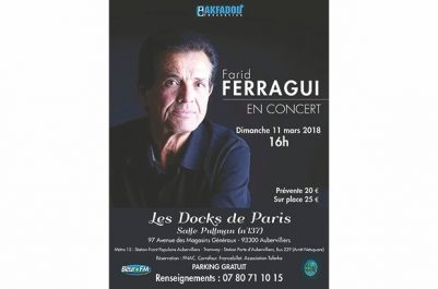 IL L'ENTAMERA DEMAIN À PARIS : Farid Ferragui en tournée en France et en Amérique