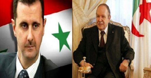 Bouteflika félicite son homologue syrien à l'occasion du 72e anniversaire de l'indépendance de son pays