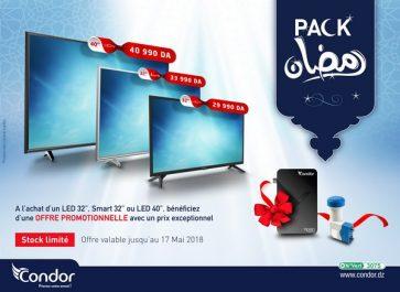 Condor lance le pack Ramadhan à 29 990 DA