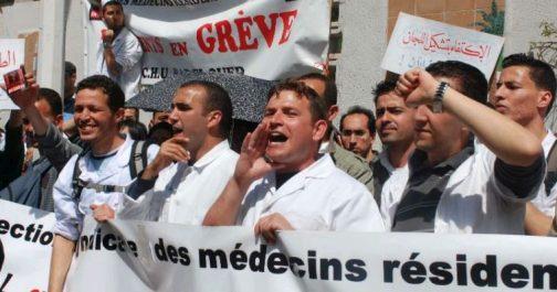 Médecins résidents: la police disperse une manifestation. Plus de service minimum à partir de mai