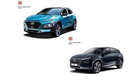 Trophée : Hyundai NEXO et Hyundai Kona distingués aux Red Dot Award