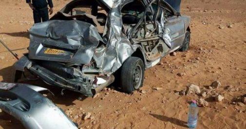 Ghardaïa: Deux morts et quatre blessés dans un accident de la route